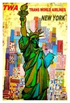 TWA Vintage Fly to New York Advertising Print