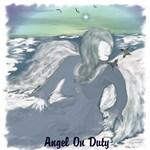 Resting Angel On Cloud