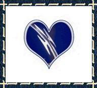 Blue Barbed Heart