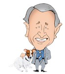 JRT Politics: Dubya Bush Hugging a Jack Russell