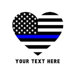 Thin Blue Line Love Personalized