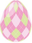 Easter Egg Gingham Pink Lime