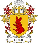 de Haes Coat of Arms, Family Crest