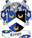 Craigie Family Crest, Coat of Arms