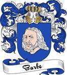 Barbe Family Crest, Coat of Arms
