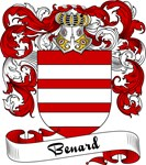 Benard Family Crest, Coat of Arms