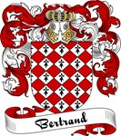 Bertrand Family Crest, Coat of Arms