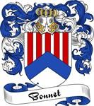 Bonnet Family Crest, Coat of Arms
