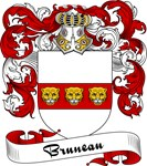 Bruneau Family Crest, Coat of Arms