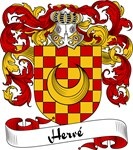 Herve Family Crest, Coat of Arms