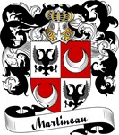 Martineau Family Crest, Coat of Arms
