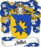 Millet Family Crest, Coat of Arms
