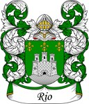 Rio Family Crest, Coat of Arms