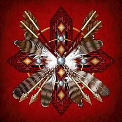 Scarlet Native-Style Mandala