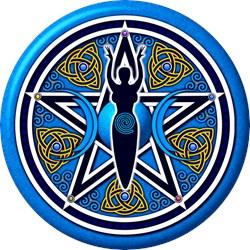 Blue-Gold Goddess Pentacle