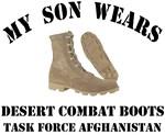 My Son wears desert combat boots - TFA