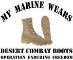 My Marine wears desert combat boots - OEF