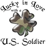Lucky in Love with a U.S. Soldier with Camouflage