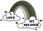 I Love My Soldier Army Rainbow