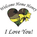 Welcome Home Camo Heart with I Love You!