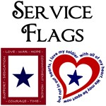Service Flag for Army, Navy, Air Force & Marines