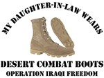 MY DAUGHTER-IN-LAW WEARS DESERT COMBAT BOOTS