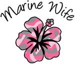 Marine Wife Pink Camouflage Flower