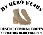 My Hero wears desert combat boots OIF