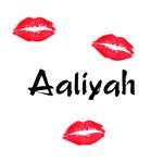 Aaliyah kisses