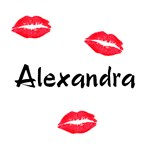Alexandra kisses