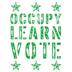 occupy learn vote green