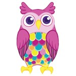 Cute Girly Colorful Pink Owl