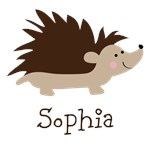 Custom Name Hedgehog