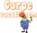 Carpe Vacationem (Carpe Diem Parody) t-shirts man