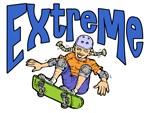 Extreme Female Skate Boarder