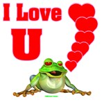 I Love Heart U Froggy
