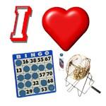 I Heart Bingo card