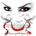 Twilight saga Breakingdawn Red vampire eyes Doves