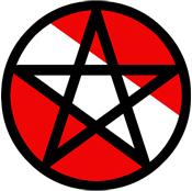 Scuba Flag Pentagram