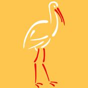 Stylized Stork