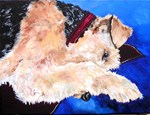 Airedale & dog breeds painting images Postcards