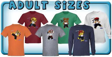 Teen & Adult Size Shirts