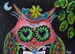 Day of the Dead Pink Owl