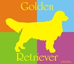 big yellow on warhol Golden Retriever
