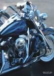 H3173 Motorcycle Watercolor