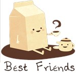 Milk and Coffee - Best Friends (w and w/o text)