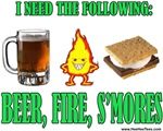 Beer, Fire,  S'mores