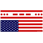 SOS Distress American Flag