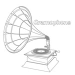 Outline Sketch Gramophone