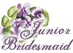 Pansies Floral Junior Bridesmaid